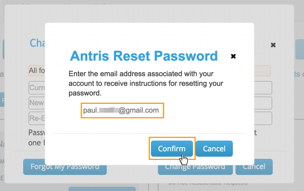 Antris Change my Password